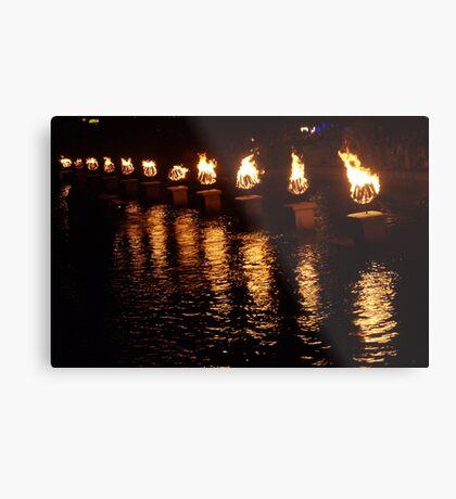 Waterfire Metal Print