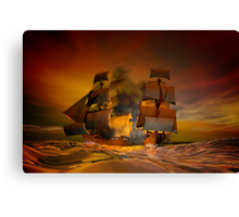 Pirate attack Canvas Print
