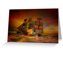 Pirate attack Greeting Card