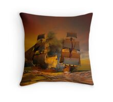 Pirate attack Throw Pillow