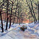 Evening Glow on a Winter Lane by Glenn  Marshall