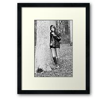Model Tiffany Black and White Version Framed Print