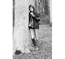 Model Tiffany Black and White Version Photographic Print