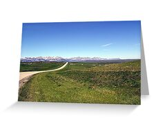 Long Lonely Road Greeting Card