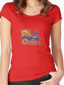 Santa Train Women's Fitted Scoop T-Shirt