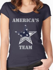 Dallas Cowboys  Women's Fitted Scoop T-Shirt
