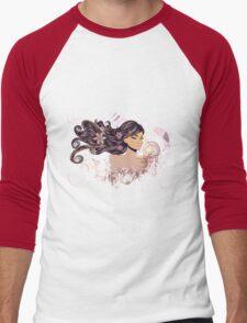 Music Girl 2 Men's Baseball ¾ T-Shirt