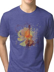 Music Poster with Guitar 5 Tri-blend T-Shirt