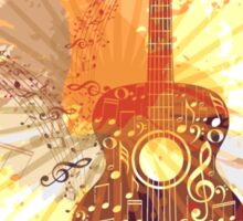Music Poster with Guitar 5 Sticker