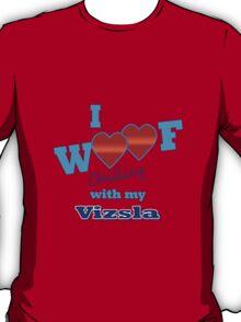 I woof vizsla geek funny nerd T-Shirt