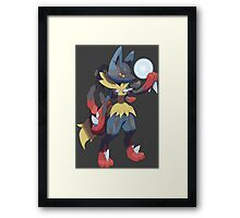 pokemon lucario anime manga shirt Framed Print