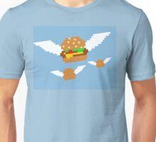 """Food Flight"" 8 bit Burger Pixel Unisex T-Shirt"