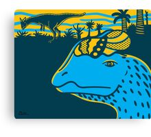 Dilophosaurus Duo Print Canvas Print