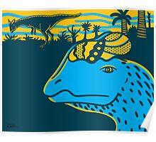 Dilophosaurus Duo Print Poster