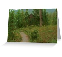 Taylor Meadows Hut - Simplified Greeting Card
