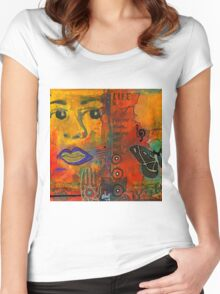 Paint Your Dreams, Ms Angela Women's Fitted Scoop T-Shirt