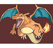pokemon charizard anime manga shirt Photographic Print