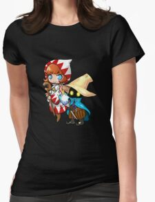 Black & White Mage Womens Fitted T-Shirt