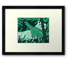 Long Necks print Framed Print