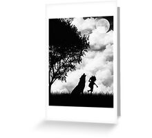 Mowgli and the Wolf Greeting Card