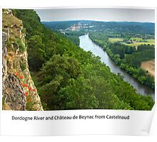 Dordogne - Chateau Beynac seen from Castelnaud Poster