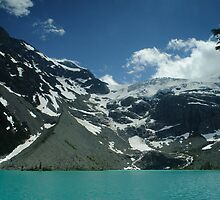 Upper Joffre Lake and Glaciers beyond by Michael Garson
