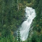 Waterfall on the Mountain Lake Hut Trail by Michael Garson