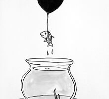 unhappy fish by Loui  Jover