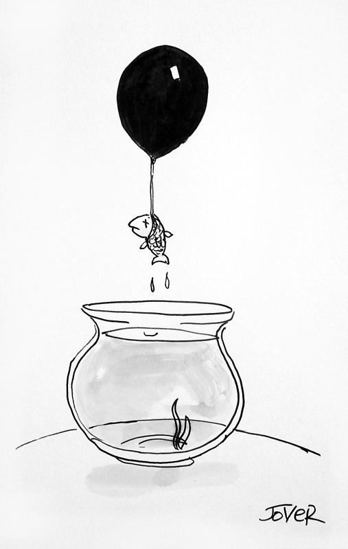 unhappy fish by Loui  Jover