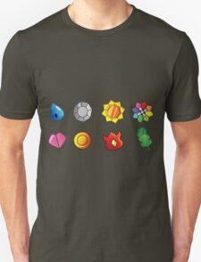pokemon kanto badges anime manga shirt T-Shirt