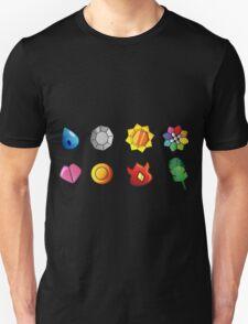 pokemon kanto badges anime manga shirt T-Shirt
