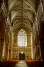 The West Entrance and the Nave, York Minster by Christine Smith