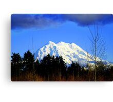 Mt. Rainier in HDR Canvas Print