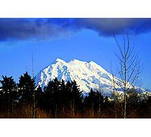 Mt. Rainier in HDR Photographic Print