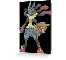 pokemon lucario anime manga shirt Greeting Card