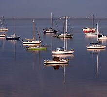 Boat Reflection - Geelong by Hans Kawitzki