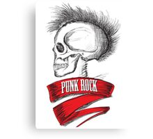 Skull Punk Rock Canvas Print