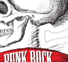 Skull Punk Rock Sticker