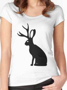 Jackalope geek funny nerd Women's Fitted Scoop T-Shirt