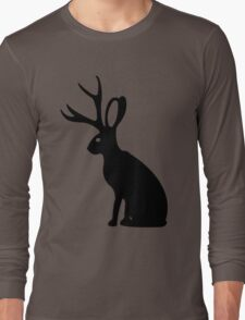 Jackalope geek funny nerd Long Sleeve T-Shirt
