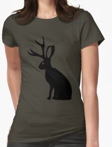 Jackalope geek funny nerd Womens Fitted T-Shirt