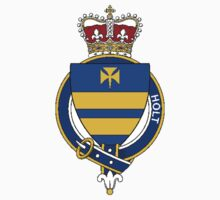 Coat of arms (family crest) for last-name or surname Holt (England) . Heraldry banner for your name. by rita24