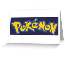 pokemon anime manga shirt Greeting Card