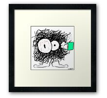 Little Ball of Stress and Caffeine Framed Print