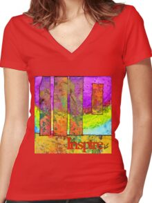 Three Plus One Equals More Than Four! Women's Fitted V-Neck T-Shirt