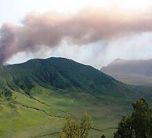 Smoke from Gunung Bromo by Tim Coleman