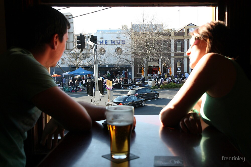 Beer with a View, Town Hall Hotel, Newtown 2010 by frantinley