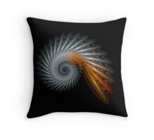 Titanium Spiral Throw Pillow