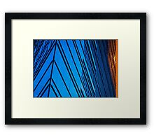 Blue Building in the heart of Berlin Framed Print