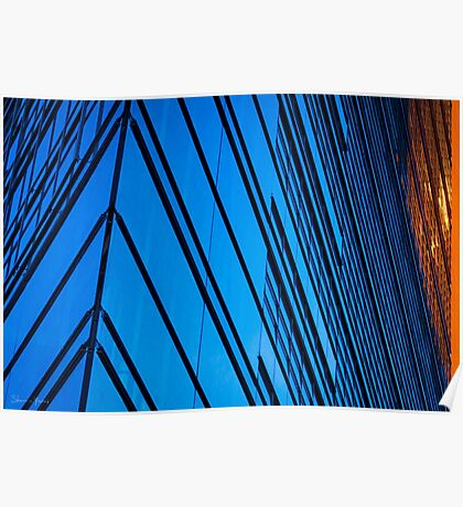 Blue Building in the heart of Berlin Poster